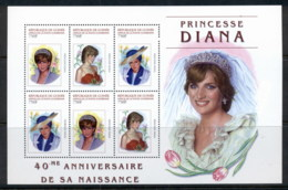 Guinee 2001 Princess Diana 40th Birth Anniversary MS MUH - Guinea (1958-...)