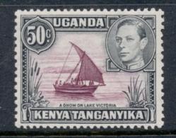 Kenya Uganda Tanganyika 1938-54 KGVI Pictorial Dhow On Lake Victoria 50c Perf 13x11.5 MLH - Kenya (1963-...)