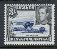 Kenya Uganda Tanganyika 1938-54 KGVI Pictorial Lake Nyassa 3/- Perf 13x11.5 MLH - Kenya (1963-...)