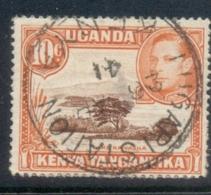 Kenya Uganda Tanganyika 1938-54 KGVI Pictorials, Lake Naivasha 10c Perf 14 FU - Kenya (1963-...)