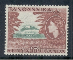Kenya Uganda Tanganyika 1954-59 QEII Pictorials, Mt Kilimanjaro 65c MUH - Kenya (1963-...)