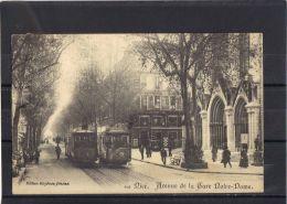 06301 . NICE . AVENUE DE LA GARE NOTRE DAME . ANNEE  1910 . ANIMATION . TRAMWAY . - Transport (road) - Car, Bus, Tramway