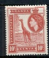 KUT 1954-59 QEII Pictorial, 10c Giraffe MUH - Kenya (1963-...)