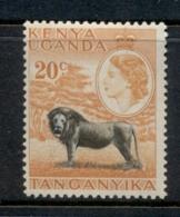 KUT 1954-59 QEII Pictorial, 20c Lion MUH - Kenya (1963-...)