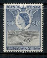KUT 1954-59 QEII Pictorial, 30c Owen Falls Dam MLH - Kenya (1963-...)