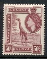 KUT 1954-59 QEII Pictorial, 50c Giraffe MUH - Kenya (1963-...)