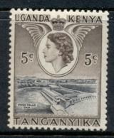 KUT 1954-59 QEII Pictorial, 5c Owen Falls Dam MUH - Kenya (1963-...)