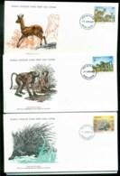 Lesotho 1977 WWF,Klipspringer, Baboon, Porcupine,Franlkin Mint (with Inserts) 3xFDC Lot79605 - Lesotho (1966-...)