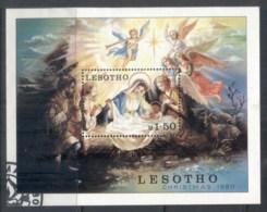 Lesotho 1980 Xmas MS FU - Lesotho (1966-...)
