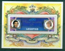 Lesotho 1981 Charles & Diana Royal Wedding MS MUH Lot81881 - Lesotho (1966-...)