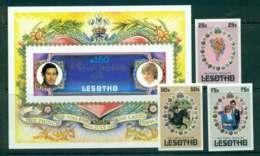 Lesotho 1981 Charles & Diana Wedding + MS IMPERF MUH Lot45076 - Lesotho (1966-...)