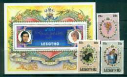 Lesotho 1981 Charles & Diana Wedding + MS MUH Lot45074 - Lesotho (1966-...)