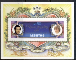 Lesotho 1981 Royal Wedding Charles & Diana MS IMPERF MUH - Lesotho (1966-...)