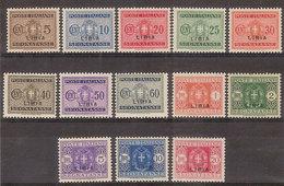 (Fb).Colonie.LIBIA.1934.Segnatasse.Serie Completa 13 Val. Nuovi Con Traccia Di Ling. (342-16) - Libya
