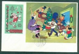Lesotho 1982 Disney, Twelve Days Of Xmas MS FDClot77512 - Lesotho (1966-...)