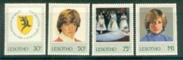 Lesotho 1982 Princess Diana 21st Birthday MLH Lot81970 - Lesotho (1966-...)