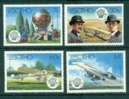 Lesotho 1983 Manned Flight Bicentenary MUH - Lesotho (1966-...)