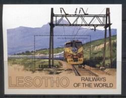 Lesotho 1984 Railway's Of The World, Blue Train MS MUH - Lesotho (1966-...)