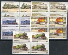 Lesotho 1984 Trains Block MUH Lot7788 - Lesotho (1966-...)