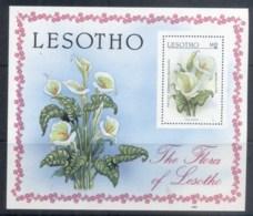 Lesotho 1987 Flowers MS MUH - Lesotho (1966-...)