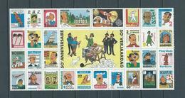 Feuille Complète Vignettes 50 Ans Anniversaire Tintin TB Rare (uniquement Les Timbres Sans Bord De Feuille) - Feuilles Complètes