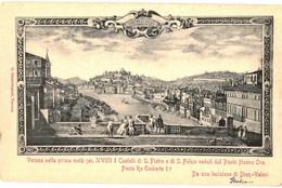 CPA N°22907 - LOT DE 5 CARTES DE VERONA - PANORAMA - DONT UNE GRAVURE OU LITHO OU DESSIN - Verona