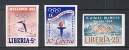 Liberia 1964 Winter Olympics Innsbruck IMPERF MUH - Liberia