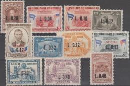 HONDURAS - 1964-65 Surcharges. Scott C345-355. Mint - Honduras