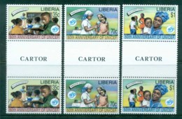 Liberia 1996 UNICEF 50th Anniv Gutter Pr MUH - Liberia