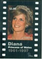 Liberia 1998 Princess Diana In Memoriam, Diana's Smile Lifted Our Hearts MS MUH - Liberia