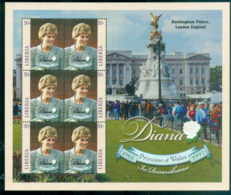 Liberia 1998 Princess Diana In Memoriam, Extraordinary Diana MS MUH - Liberia