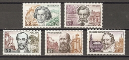 France 1963 - Grands Hommes De La CEE - Série Complète MNH - 1382/6 - Beethoven - Verhaeren - Mazzini - Mayrisch - De Gr - France