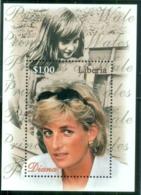 Liberia 1998 Princess Diana In Memoriam, From Little Princess To Princess Of Wales MS MUH - Liberia