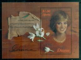 Liberia 1998 Princess Diana In Memoriam, Lady With A Shy Smile MS MUH - Liberia