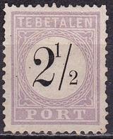 SURINAME 1886-1888  Portzegel 2 ½ Cent Zwart /  Lila Type II NVPH P 2 II (*) - Suriname ... - 1975