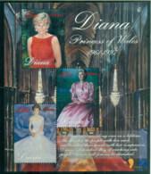 Liberia 1998 Princess Diana In Memoriam, Portraits Of A Princess MS MUH - Liberia