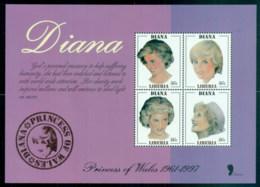 Liberia 1998 Princess Diana In Memoriam, Princess Of Wales MS MUH - Liberia