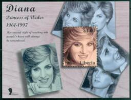Liberia 1998 Princess Diana In Memoriam, Princess Portraits MS MUH - Liberia