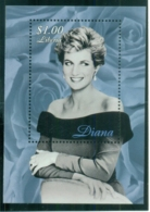 Liberia 1998 Princess Diana In Memoriam, Rose Of England MS MUH - Liberia