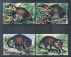 Liberia 1998 WWF Liberian Mongoose FU - Liberia