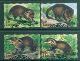 Liberia 1998 WWF Liberian Mongoose FU Lot81585 - Liberia