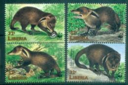Liberia 1998 WWF Liberian Mongoose Prs MUH Lot76152 - Liberia