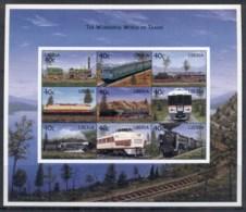Liberia 1999 The Wonderful World Of Trains Sheetlet MUH - Liberia