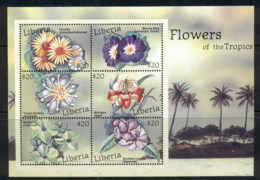 Liberia 2000 Flowers Of The Tropics Sheetlet MUH - Liberia