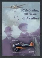 Liberia 2003 100 Years Of Aviation MS MUH - Liberia