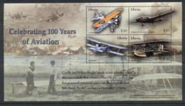 Liberia 2003 100 Years Of Aviation Sheetlet MUH - Liberia
