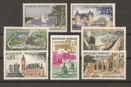 France 1961/2 - Série Touristique Complète MNH - 1311/8 - Médéa - Dunkerque - Cognac - Dinan - Calais - Sully - Arcachon - France