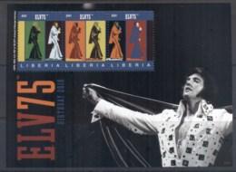 Liberia 2010 Elvis Presley 75th Birthday MS MUH - Liberia