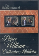 Liberia 2011 Royal Engagement William & Kate #1104 $100 MS MUH - Liberia