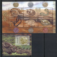 Liberia 2012 New Year Of The Snake 2xMS MUH - Liberia